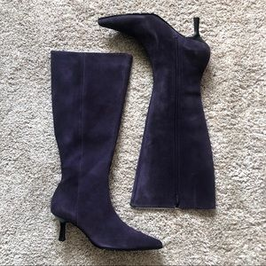 PAZZO Purple Grape Suede Knee High Boots 8M